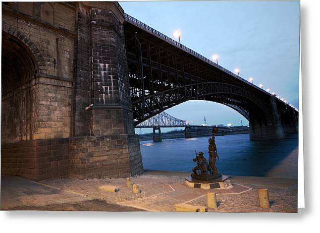 Eads Bridge Lewis And Clark Landing Greeting Card
