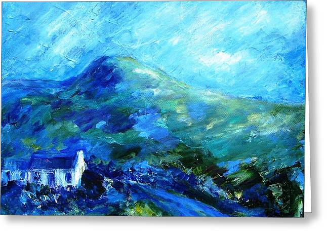 Eagle Hill Lane -ireland  Greeting Card by Trudi Doyle