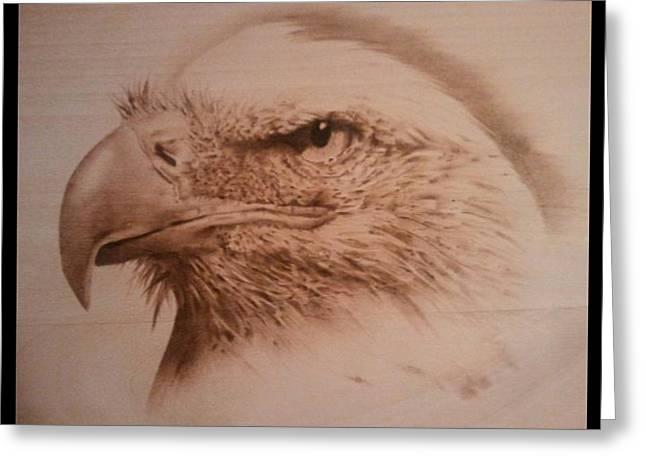 Eagle Greeting Card by Rodney Balderas
