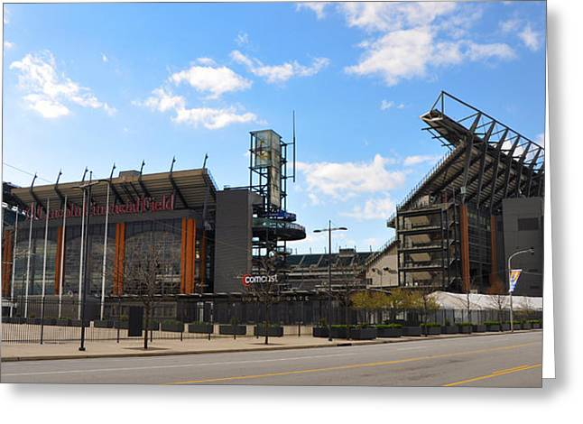 Eagles - The Linc Greeting Card by Bill Cannon