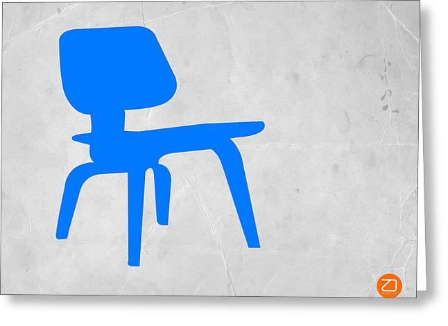 Eames Blue Chair Greeting Card by Naxart Studio