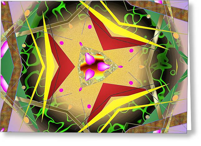 Greeting Card featuring the digital art Eaorling Flower by Mario Carini