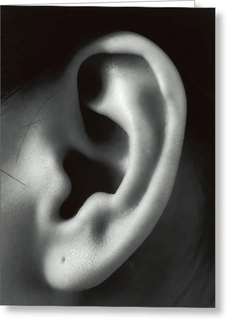 Ear Greeting Card by Cristina Pedrazzini