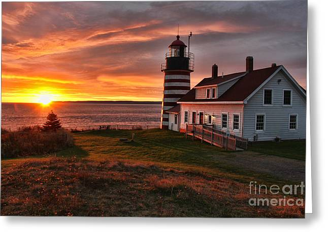 Earliest Sunrise In The United States Greeting Card by Jack Schultz