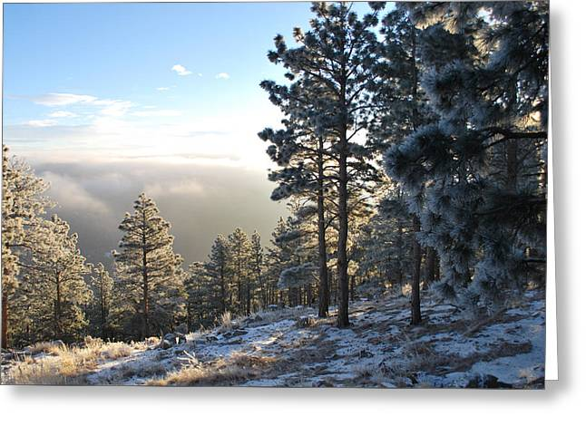 Early Am Above Boulder-photo Greeting Card