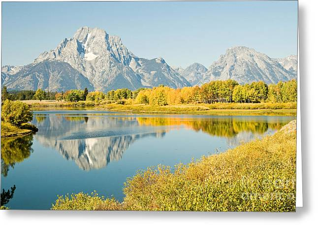 Early Autumn At Oxbow Bend Greeting Card by Bob and Nancy Kendrick