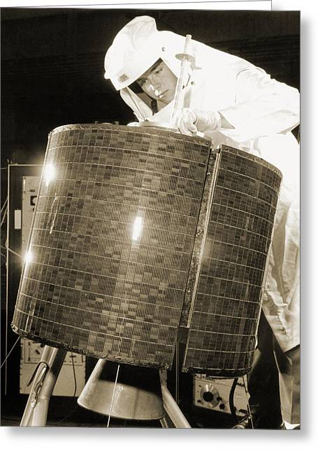 Early Bird Communications Satellite, 1965 Greeting Card