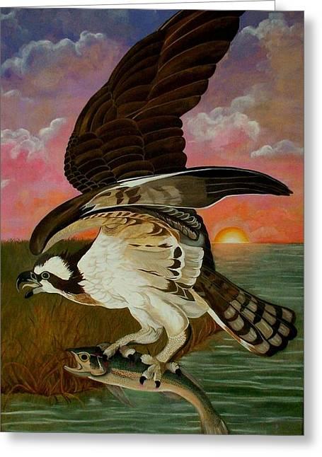 Early Catch-sunrise On The Ogeechee Greeting Card by Teresa Grace Mock