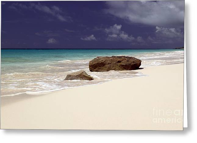 Early Evening At Surf Side Beach Greeting Card by John Gaffen
