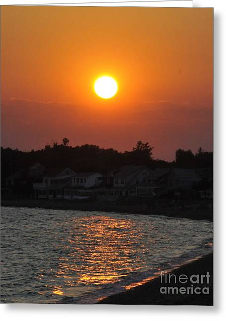 Greeting Card featuring the photograph Early Evening Sunset by Cindy Lee Longhini