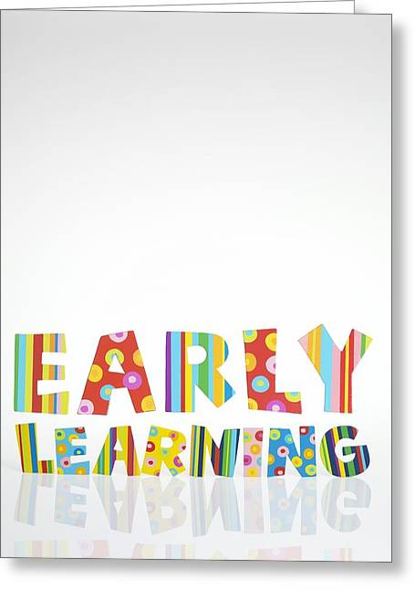 Early Learning, Conceptual Image Greeting Card