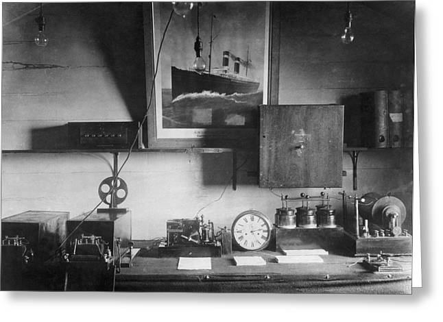 Early Marconi Apparatus Greeting Card