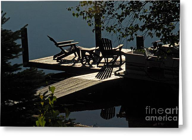 Greeting Card featuring the photograph Early Morning At The Lake by Cindy Manero