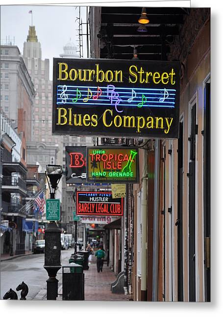 Early Morning Bourbon Street Greeting Card by Bill Cannon