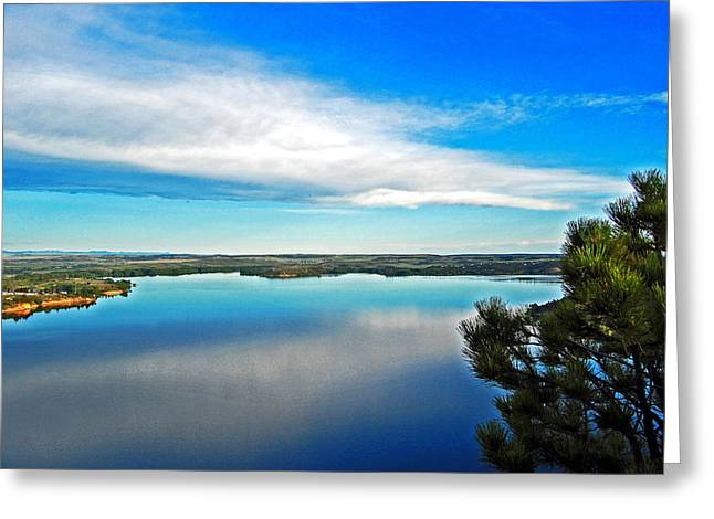 Early Morning In Eastern Wyoming. Greeting Card