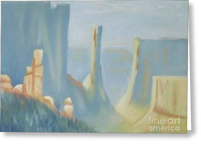 Early Morning In The Canyon Greeting Card by Debra Piro