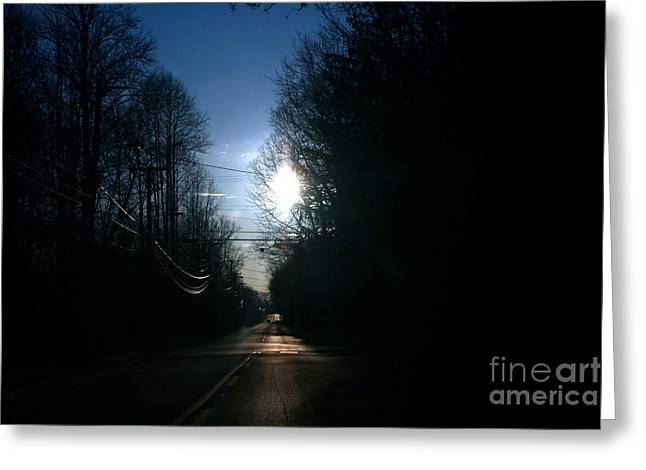 Early Morning Rural Road Greeting Card by Susan Stevenson