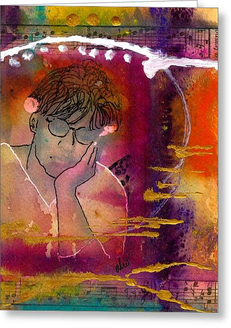 Early Morning Songwriter Greeting Card by Angela L Walker