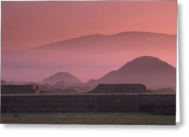 Early Morning View Of The Sun Pyramid Greeting Card by Kenneth Garrett