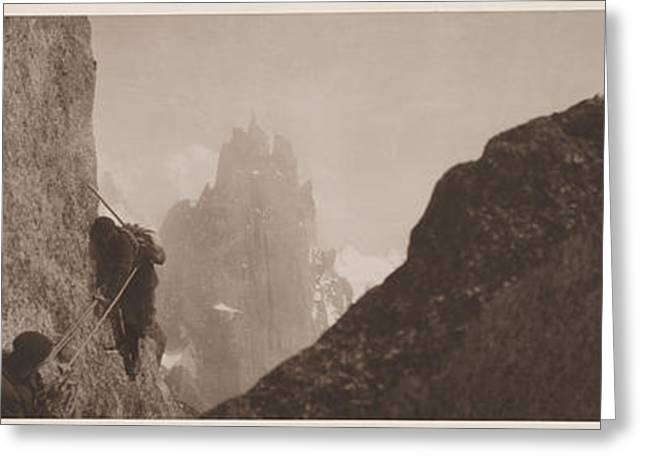 Early Mountaineering In The Alps Greeting Card by Georges Tairraz