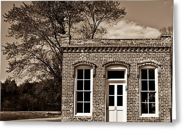 Early Office Building Greeting Card by Douglas Barnett