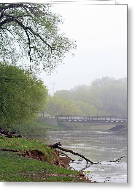 Greeting Card featuring the photograph Early Spring Morning Fog by Kay Novy
