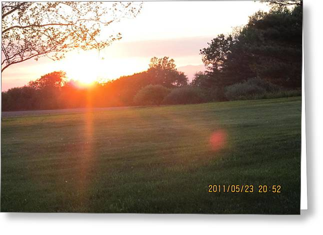 Greeting Card featuring the photograph Early Spring Sunset by Tina M Wenger