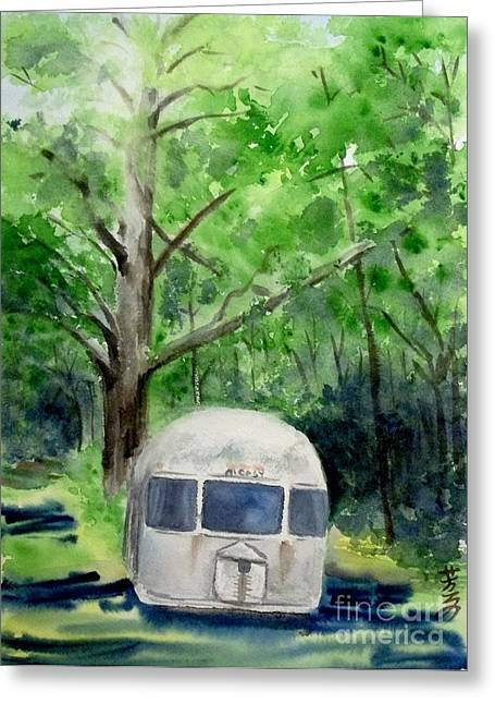 Greeting Card featuring the painting Early Summer At The Geddes Farm 1 --ann Arbor  Michigan by Yoshiko Mishina