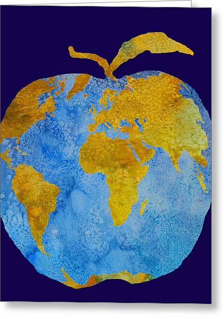 Earth Apple Greeting Card by Jenny Armitage