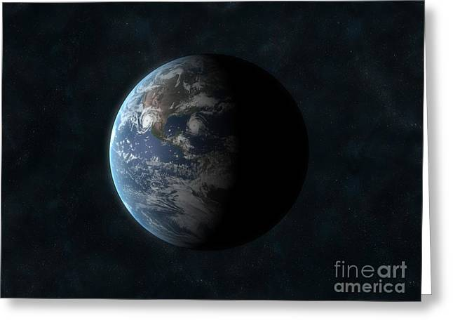 Earth Greeting Card by Carbon Lotus