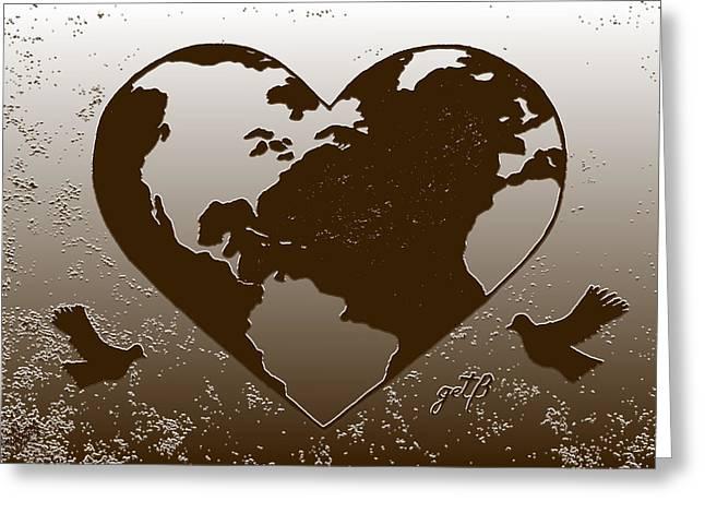 Earth Day Gaia Celebration Digital Art 2 Greeting Card by Georgeta  Blanaru