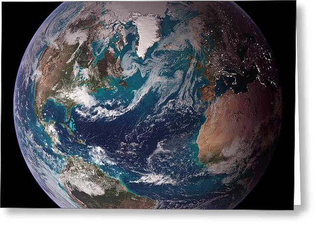 Earth, Eastern Hemisphere Greeting Card by NASA / National Oceanic and Atmospheric Administration