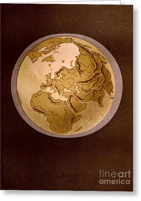 Earth From Space 1872 Greeting Card