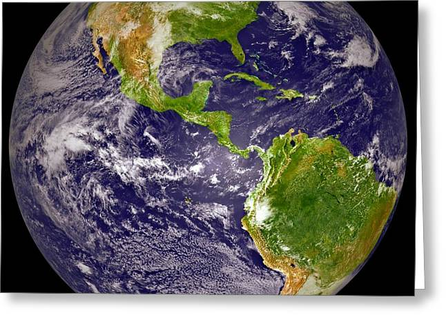 Earth From Space 2 Greeting Card