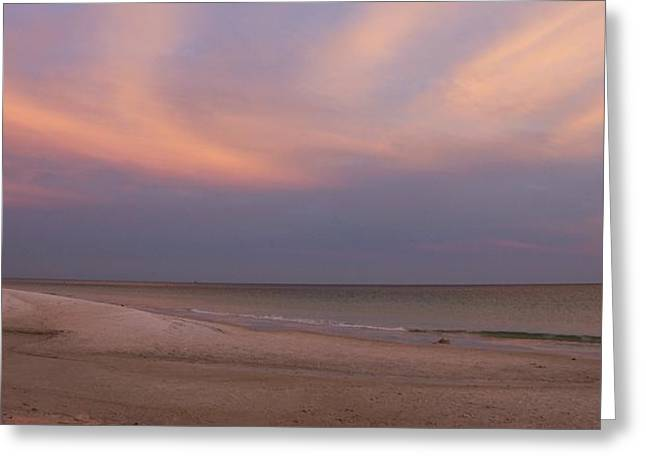 East - After The Sunset Greeting Card by Sandy Keeton