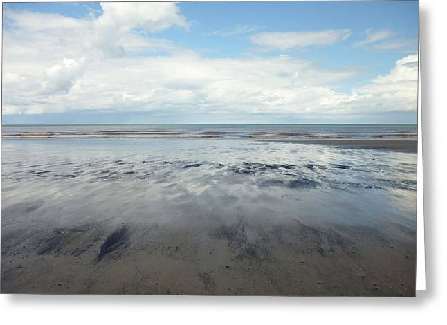 East Coast Seascape Greeting Card by Sarah Couzens