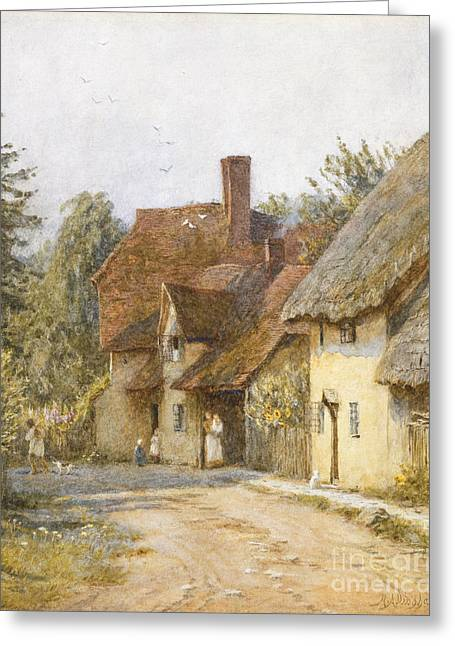 East Hagbourne Berkshire Greeting Card by Helen Allingham