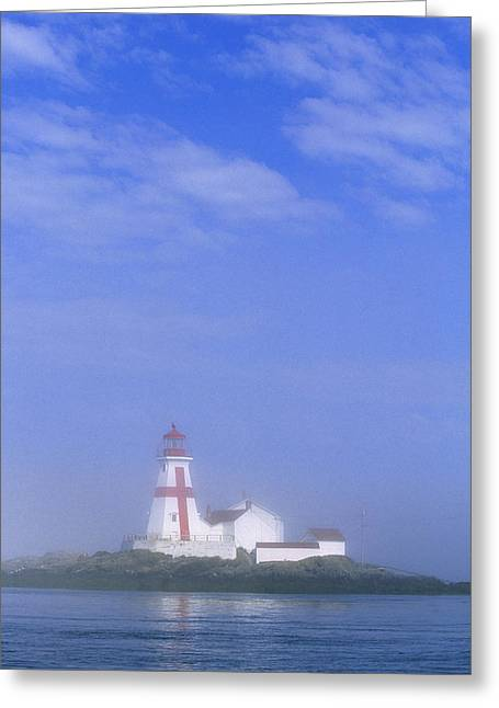 East Quoddy Lighthouse, Campobello Greeting Card by John Sylvester