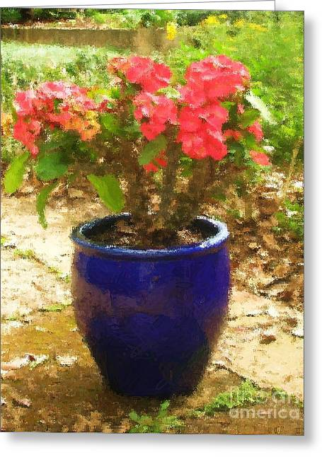Easter Cactus Greeting Card