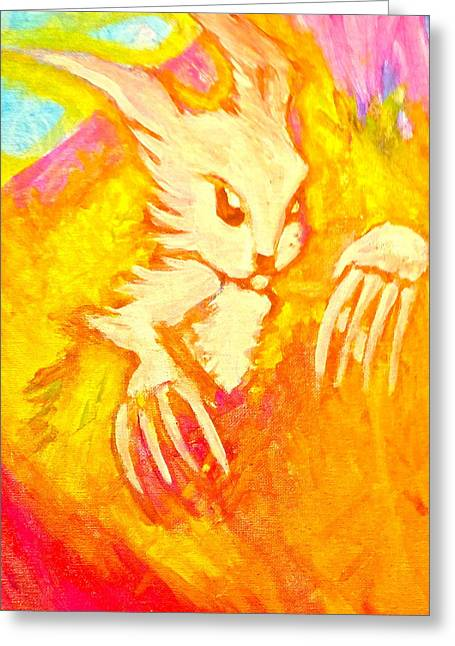 Easter Earthquake Greeting Card by Zitlalli Rodriguez