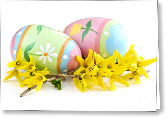 Easter Eggs Greeting Card by Elena Elisseeva