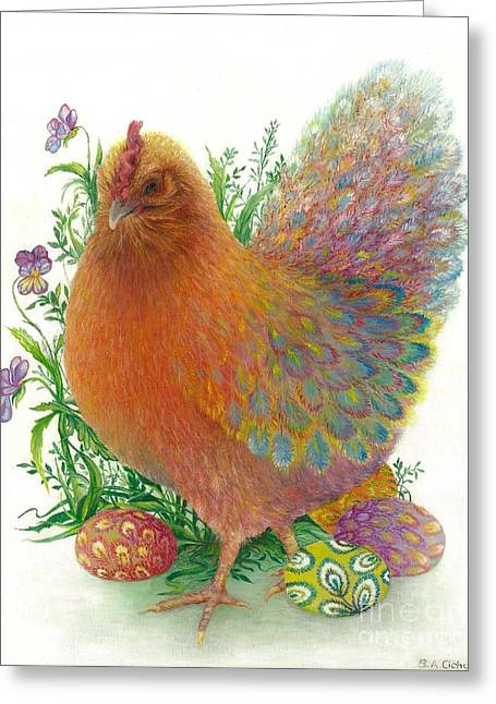 Easter Hen / Sold Greeting Card