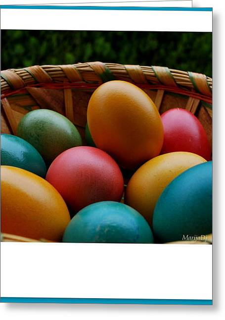 Greeting Card featuring the photograph Easter... by Marija Djedovic
