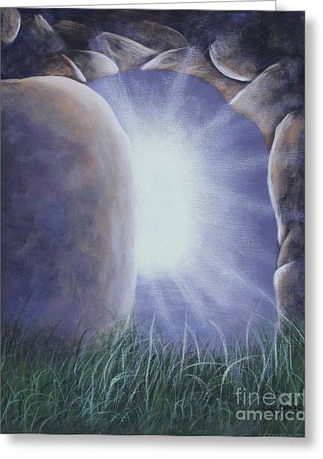 Greeting Card featuring the painting Easter Morning by Kristi Roberts