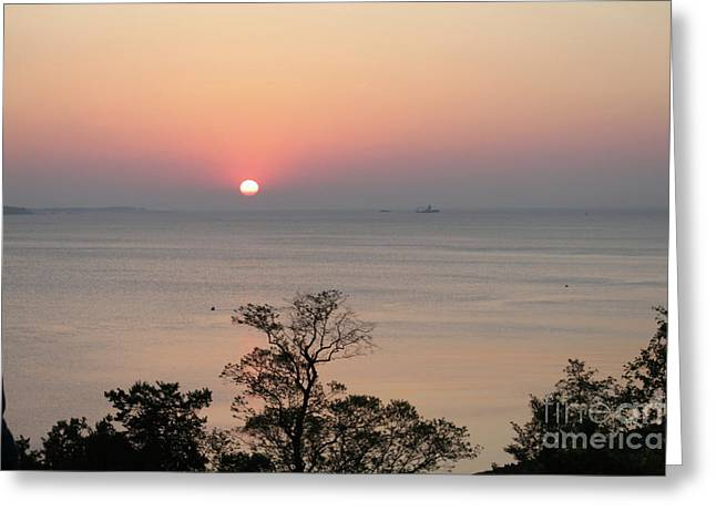 Easter Sunrise In Yorktown Greeting Card by Marilyn West