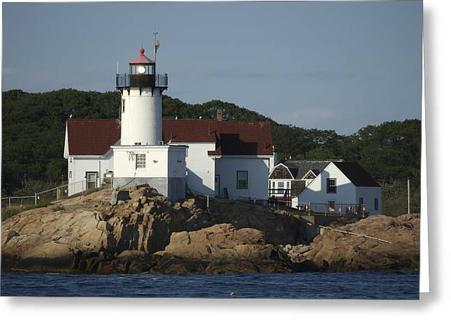 Eastern Point Lighthouse At Cape Ann Greeting Card by Tim Laman