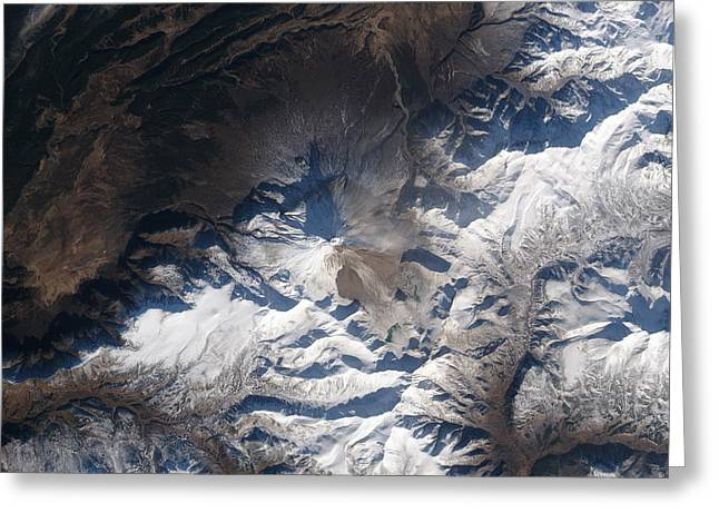 Eastern Russias Kizimen Volcano Greeting Card