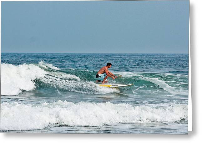 Greeting Card featuring the photograph Easy Surfing  by Ann Murphy