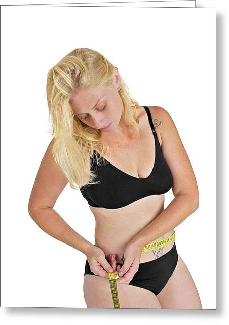 Eating Disorders And Body Image Greeting Card by Photostock-israel