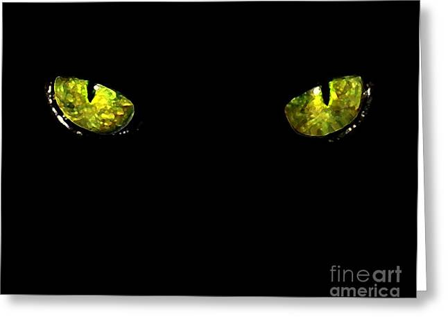 Ebony Eyes Greeting Card by Dale   Ford